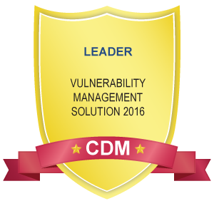 CDM Award - Leader in Vulnerability Management Solutions